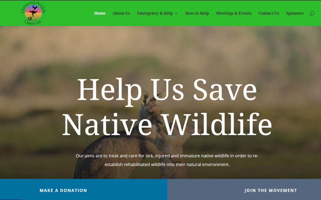 Chittering Wildlife Carers Website Redesigned